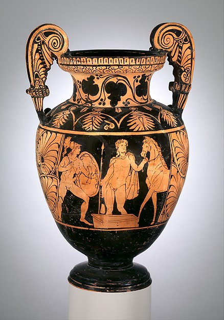 Terracotta volute-krater (bowl for mixing wine and water), Terracotta, Etruscan