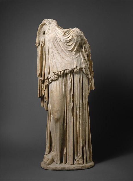 Marble statue of Eirene (the personification of peace), Roman copy of Greek original by Kephisodotos, Marble, Pentelic ?, Roman