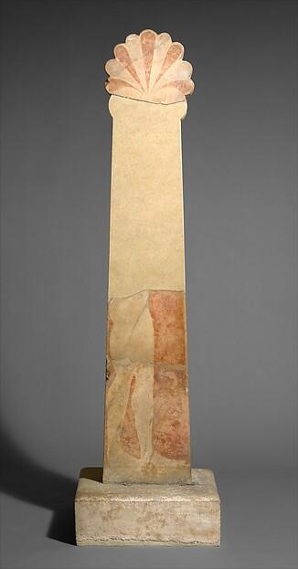 Marble grave stele of Antigenes, Marble, Hymettian (base), Greek, Attic