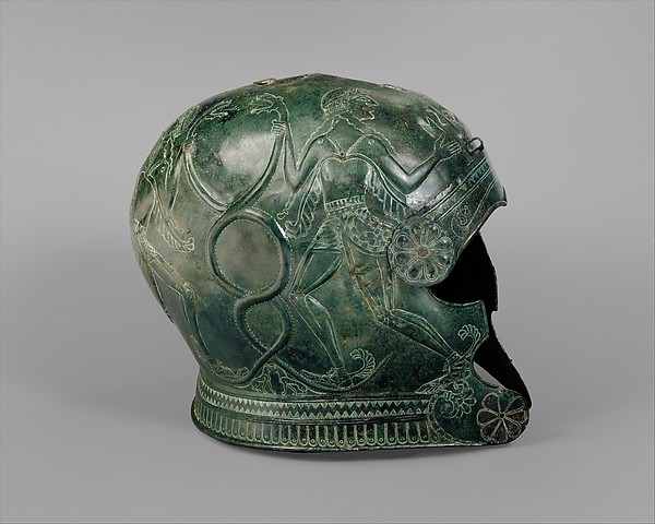 Bronze helmet, Bronze, Greek, Cretan