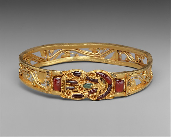 Gold armband with Herakles knot Greek Hellenistic