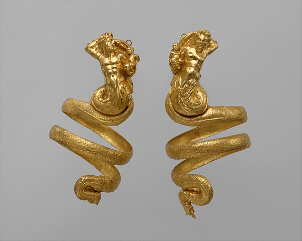 Pair of gold armbands Greek Hellenistic