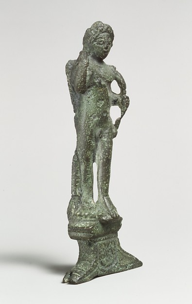 Statuette of Eros, winged, Bronze, Roman, Cypriot