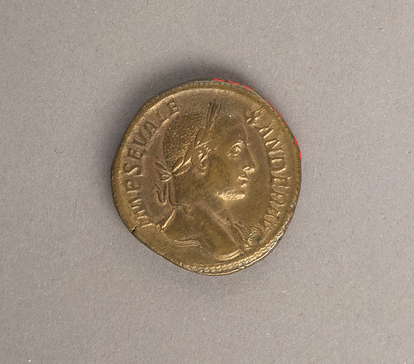Bronze sestertius of Alexander Severus, Bronze, Roman