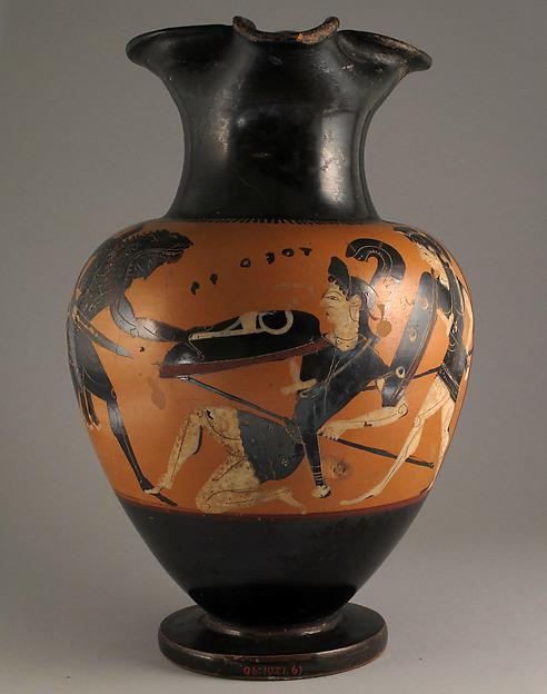 Oinochoe, Related to the Keyside Class, Terracotta, Greek, Attic