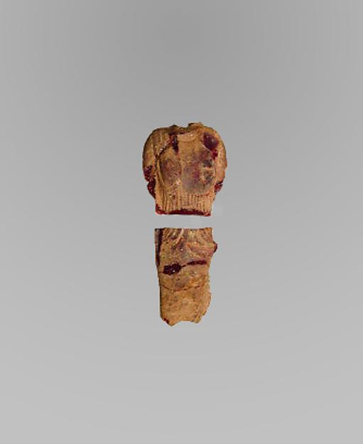 Standing draped woman (kore), Amber, Etruscan