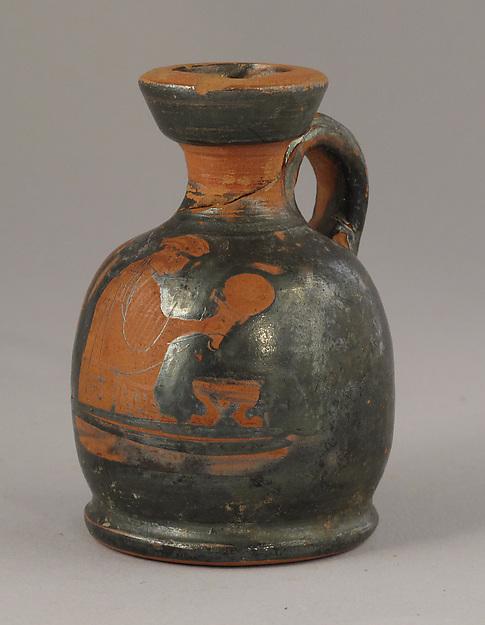 Squat lekythos, Terracotta, Greek, Attic