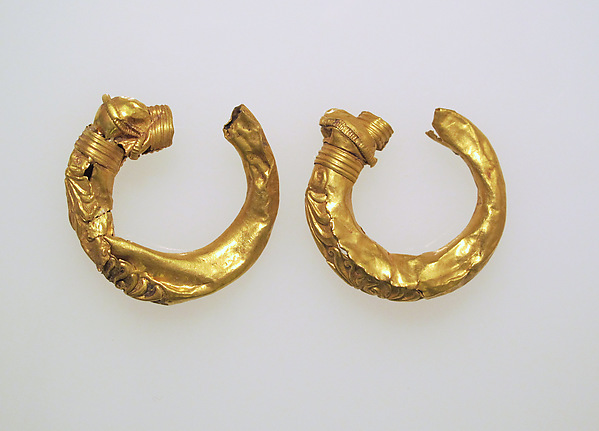 Earring, trumpet-shaped, Gold, Etruscan