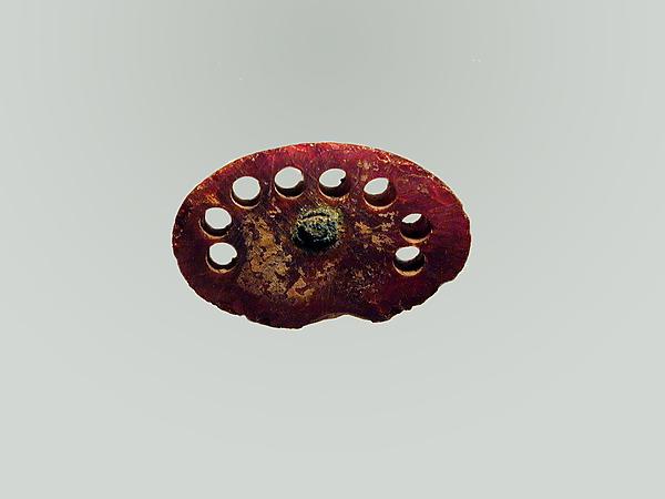 Fibula, fragment, Amber, Etruscan
