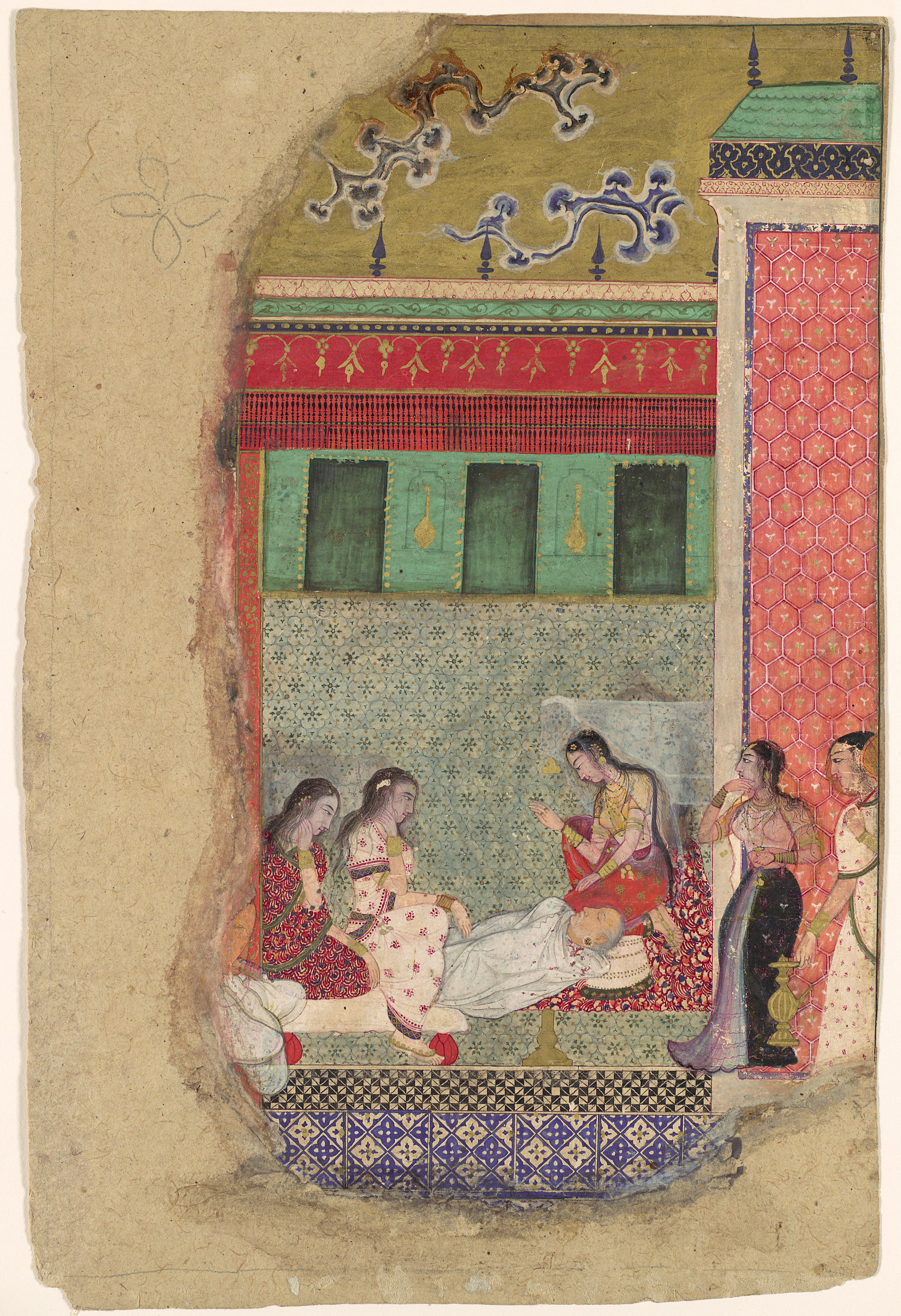 Quot The Death Of King Dasharatha The Father Of Rama Quot Folio
