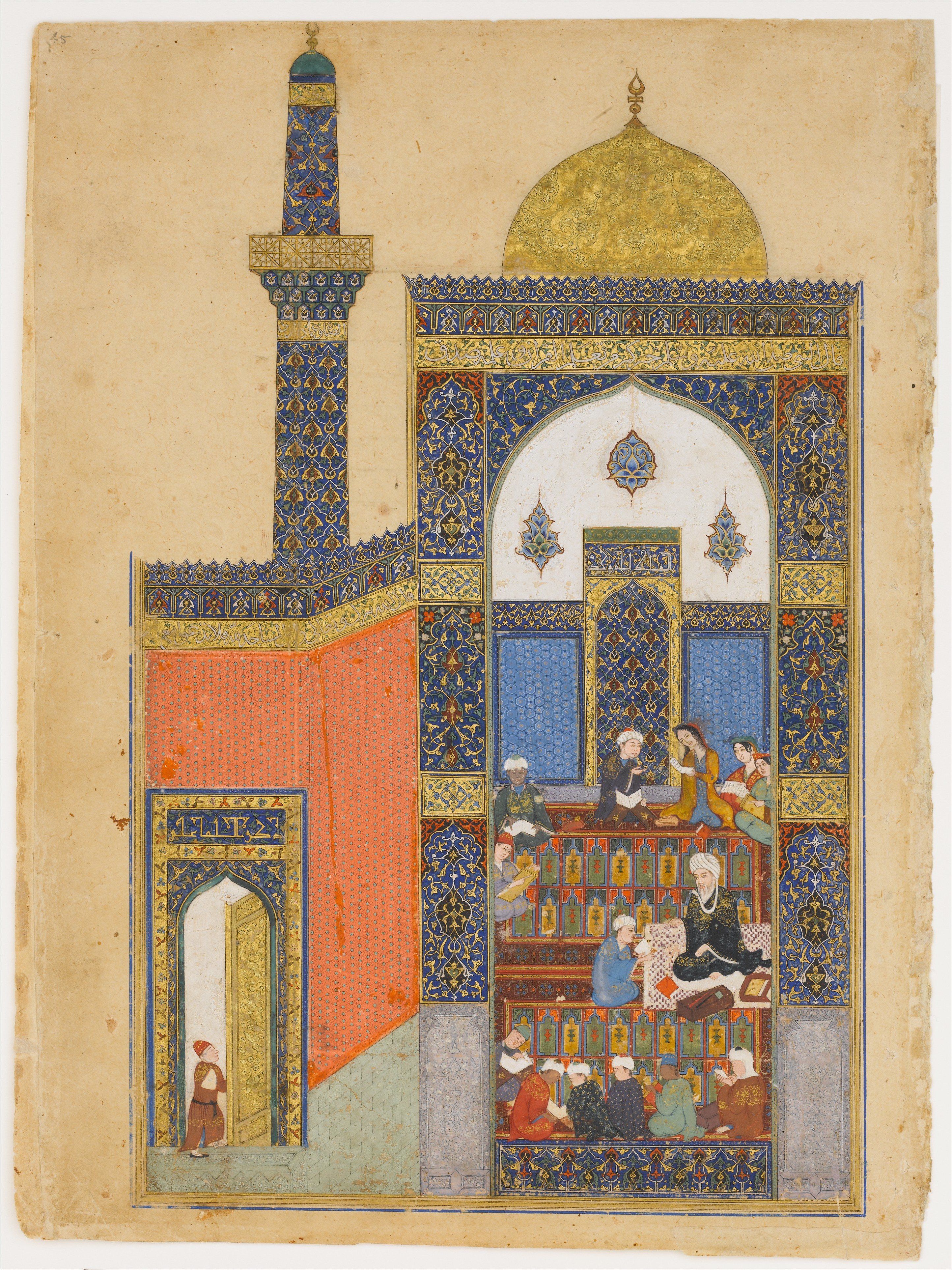 رسم لمسجد في مدينة تبريز