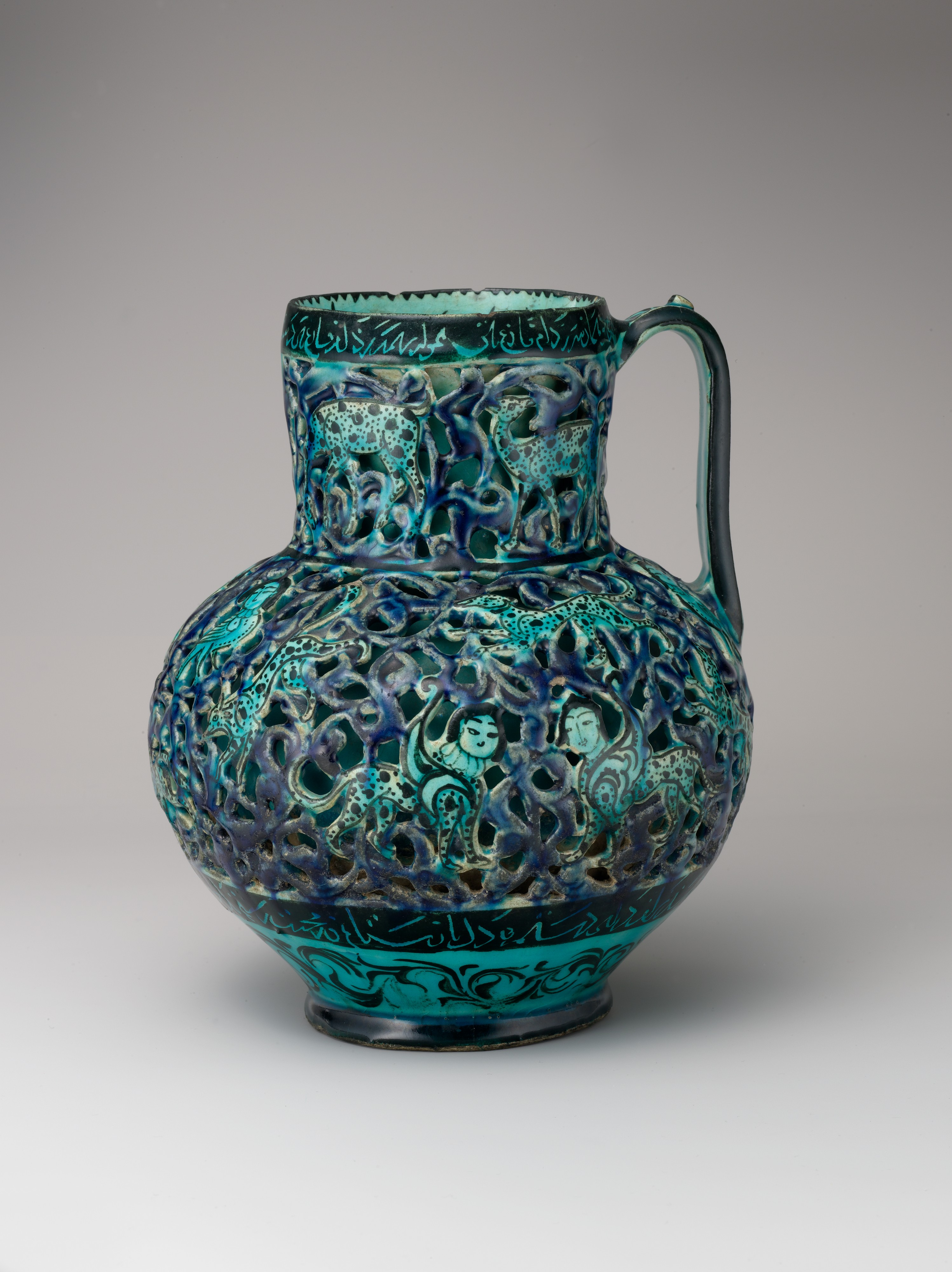 Pierced Jug With Harpies And Sphinxes The Met