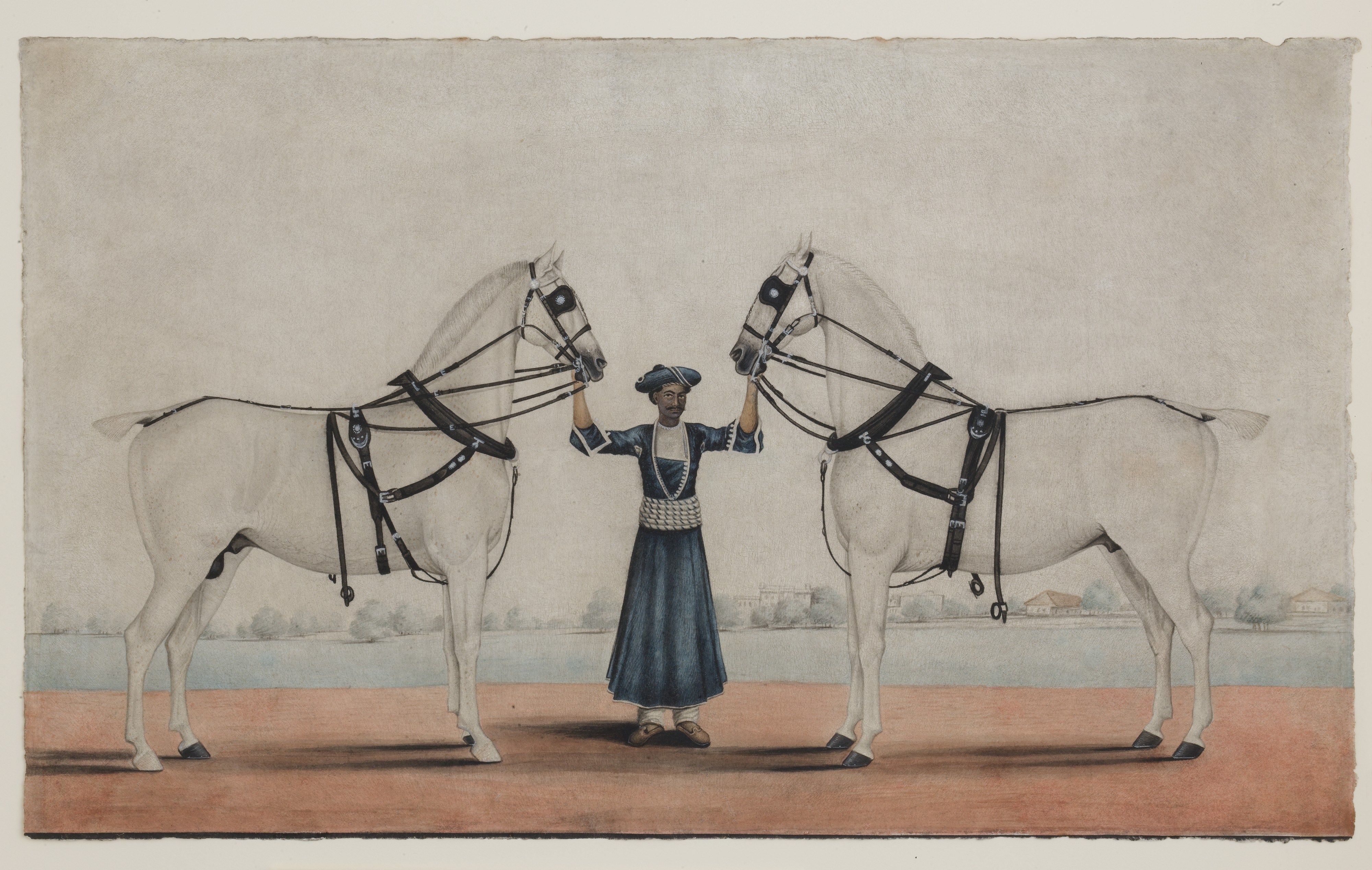 Attributed To Shaikh Muhammad Amir Of Karraya A Syce Groom Holding Two Carriage Horses The Metropolitan Museum Of Art