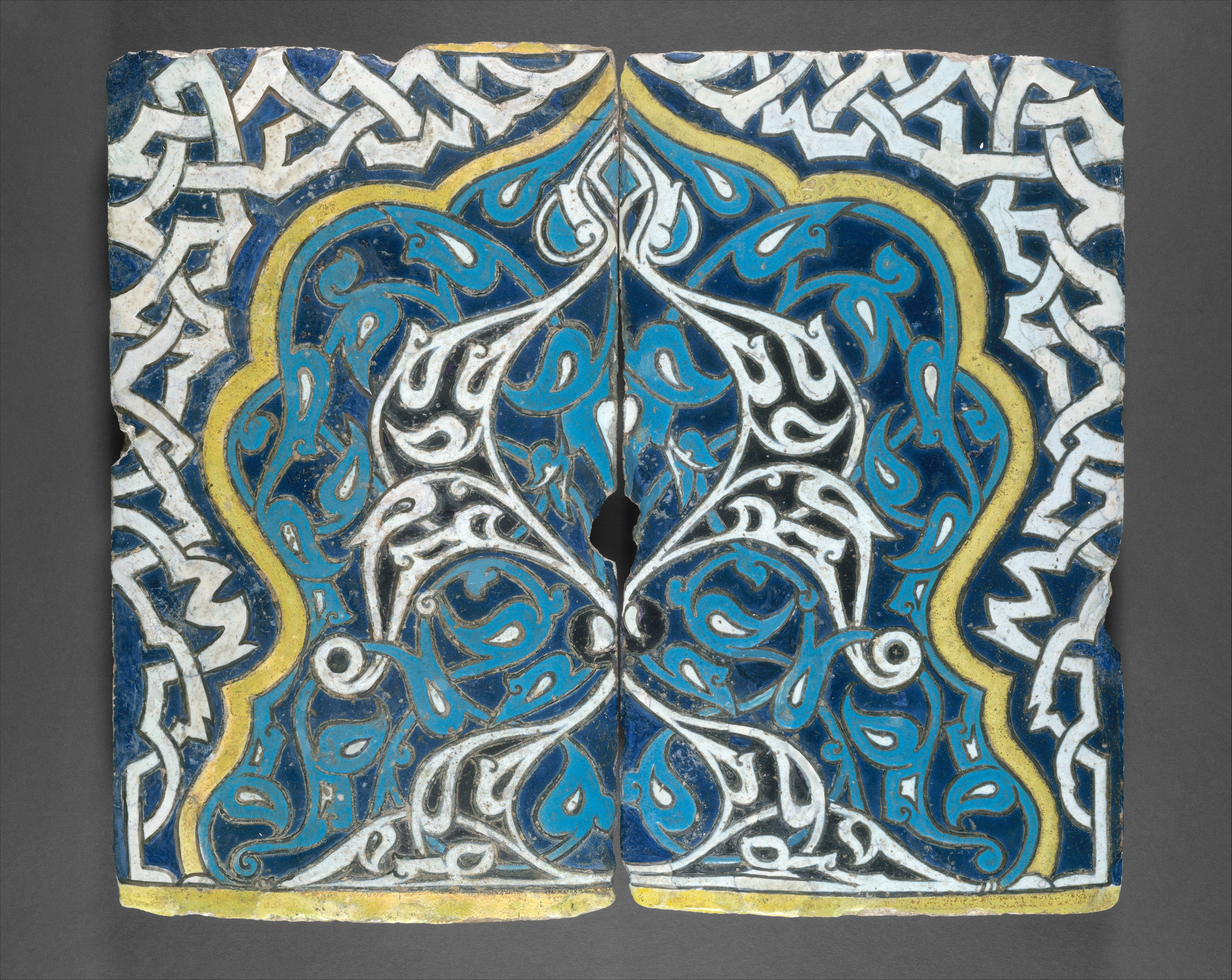 Shaped Tiles in the \'Cuerda Seca\' Technique | The Met