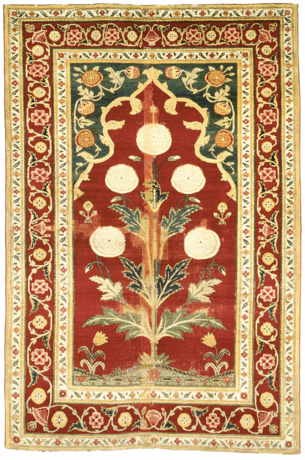 Carpet With Niche And Flower Design The Met