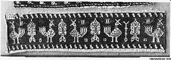Band, Silk, linen; embroidered