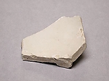 Fragment of a Bowl, Porcelaneous ware with clear glaze