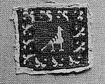 Fragment, Silk, linen; embroidered