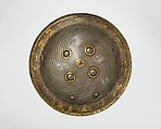 Shield with Hunting and Landscape Vignettes, Steel; with gold overlay