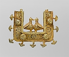 Earrings and Pendant, Gold; filigree and granulation