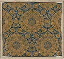 Fragment, Silk, metal wrapped thread; lampas (kemha)