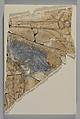Shoulder of a Figure with Blue Drapery, Stucco; painted