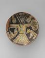 Bowl, Earthenware; white slip with polychrome decoration under a transparent glaze