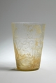 Beaker with Relief Decoration, Glass, colorless; blown, cut