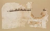 Fragment, Linen, silk; plain weave, embroidered
