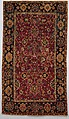 """""""Floral and Cloudband"""" Carpet, Cotton (warp and weft), wool (pile); asymmetrically knotted pile"""