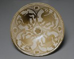Bowl with the Image of Four Camels, Earthenware; luster-painted on an opaque white glaze