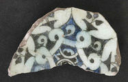 Fragment, Stonepaste; underglaze painted