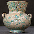 Mosque Lamp, Earthenware; glazed