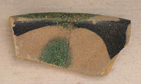 Fragments, Earthenware; painted on opaque white (tin) glaze