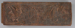 Panel, Wood; carved and painted