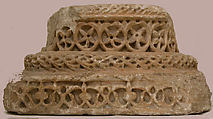Column Base, Marble; carved