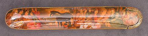 Pen Box, Papier-maché; painted and lacquered