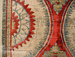 Panel Comprising Two Loom Widths, Silk, cotton, metal wrapped thread; cut and voided velvet, brocaded