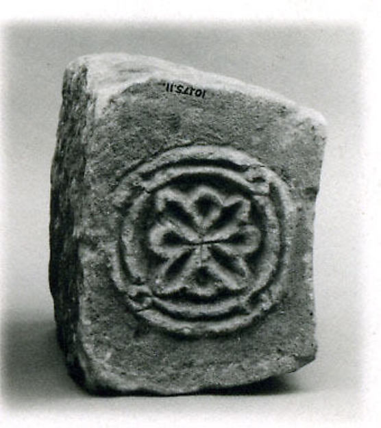 Block from an Arch with a Rosette Medallion, Sandstone