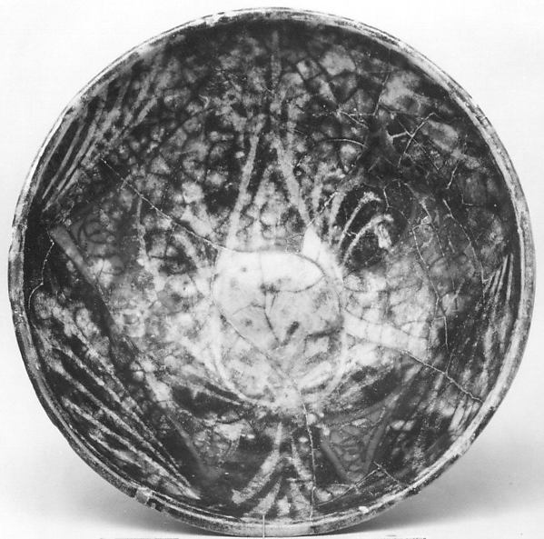 Bowl, Earthenware; glazed and luster-painted