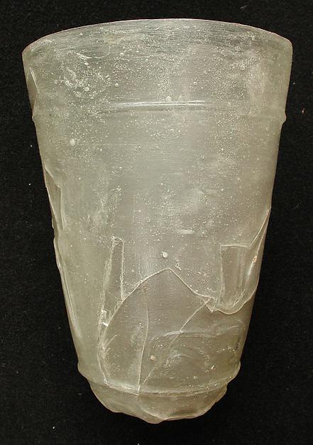 Beaker, Glass; cut