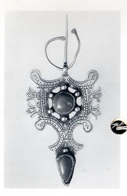 Fibula, Silver, gemstones