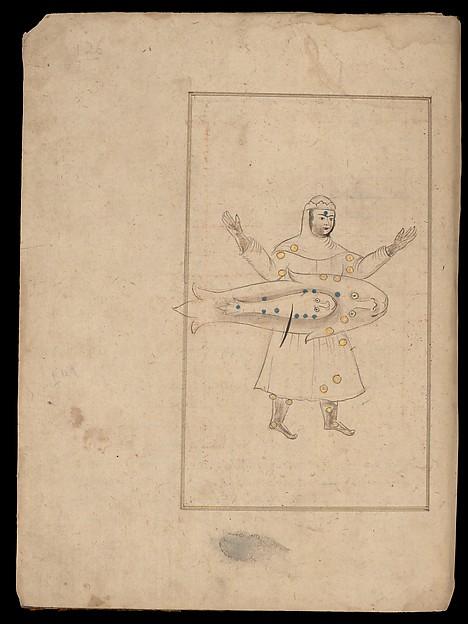 Kitab suwar al-kawakib al-thabita (Book of the Images of the Fixed Stars) of al-Sufi, `Abd al-Rahman al-Sufi (Iranian, Rey 903–986 Shiraz), Ink, opaque watercolor, and gold on paper