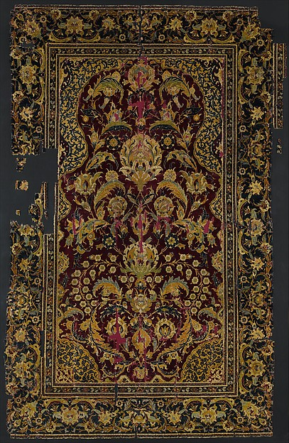 Prayer Rug, Silk, wool