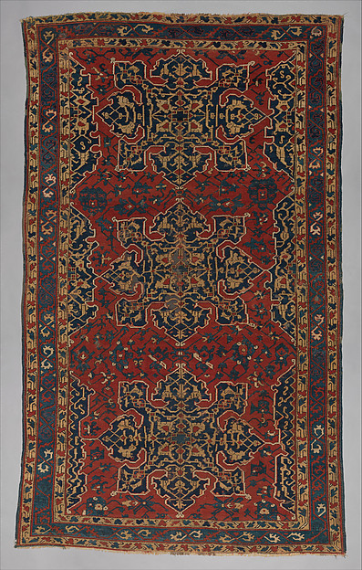 'Star Ushak' Carpet, Wool (warp, weft and pile); symmetrically knotted pile
