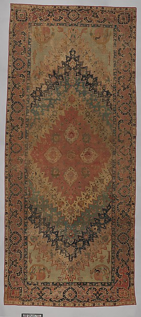 """Portuguese"" Carpet with Maritime Scenes, Cotton (warp, weft, and pile); wool (pile); asymmetrically knotted pile"
