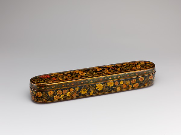 Pen Box with a Europeanizing Landscape, Hajji Muhammad, Papier-maché; painted and lacquered