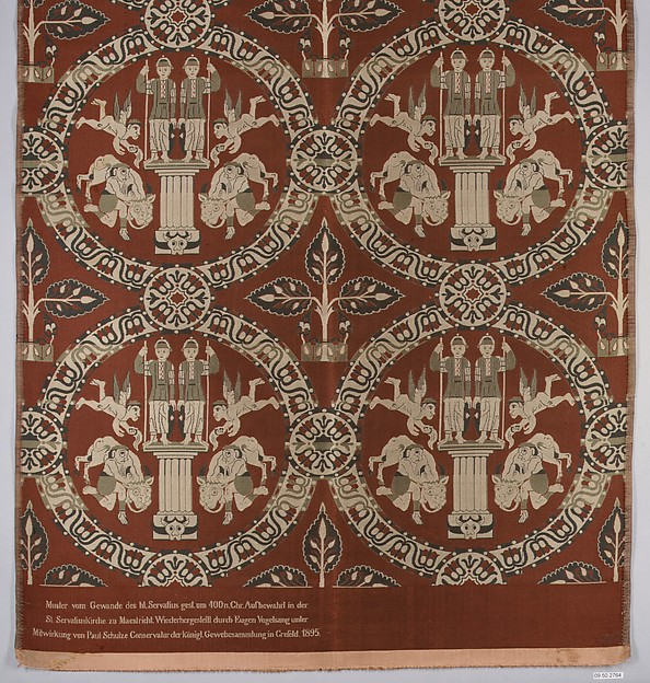 Fragment, Silk; serge weave, brocaded