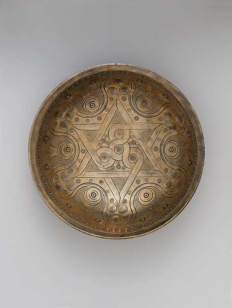 High-Tin Bronze Bowl, High-tin bronze; cast, chased, punched, engraved