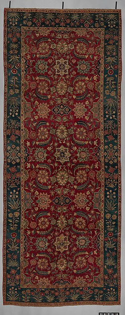 Carpet with Scrolling Vines and Blossoms, Silk (warp and weft), pashmina wool (pile); asymmetrically knotted pile